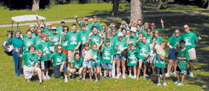 """The Shank Family - """"WALK FOR DAD"""" Team was the Overall Team and Family/Community Team winner for 2004 raising in excess of $4700. To the right is Tom Shank who was diagnosed with Alzheimer's five years ago."""