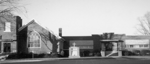 A view of Mount Calvary Evangelical Lutheran Church in 1929.
