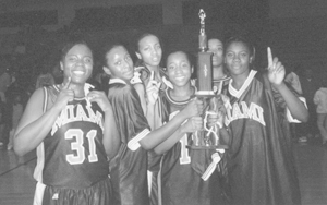 Preoshia Kelly led the Lady Indians with seven points and Elise Hunter added six for the City Champion Lady Indians.