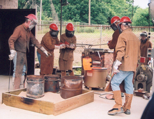 St. Francis students, instructed by Michael Warrick, felt the excitement with every pour and firing of their bronze works.