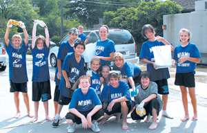 A car wash was held at Pizza Hut in downtown Waynedale on Saturday, September 12. Miami Middle School's Cross Country Team raised money to purchase uniforms and equipment.