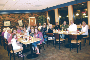 30 Waynedale News staff members gathered to discuss the past year and to develop new ideas for the future. This group consisted of writers, newspaper carriers, the editor & publishers.