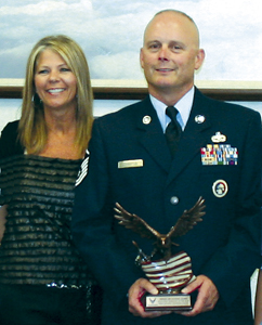 Master Sergeant Anthony E. Johnston of the 122nd Fighter Wing and his wife Marilyn, at the Fort Wayne Air Force base
