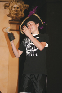 Tony Carsten as Captain Hook in the classic children's story of Peter Pan. Performances May 13th and 14th at 7pm.