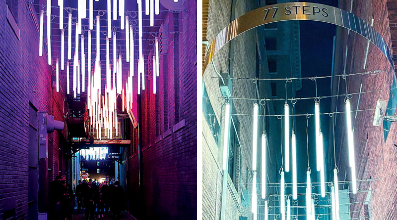 77 steps lights up downtown alley