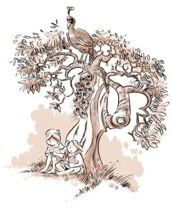 tree peacock