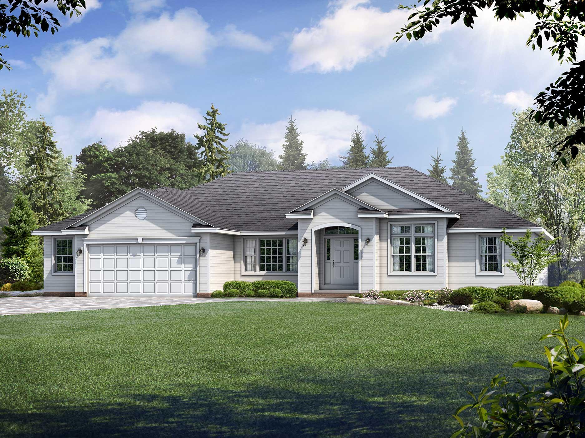 Alexandria Floor Plan: Ranch Custom Home