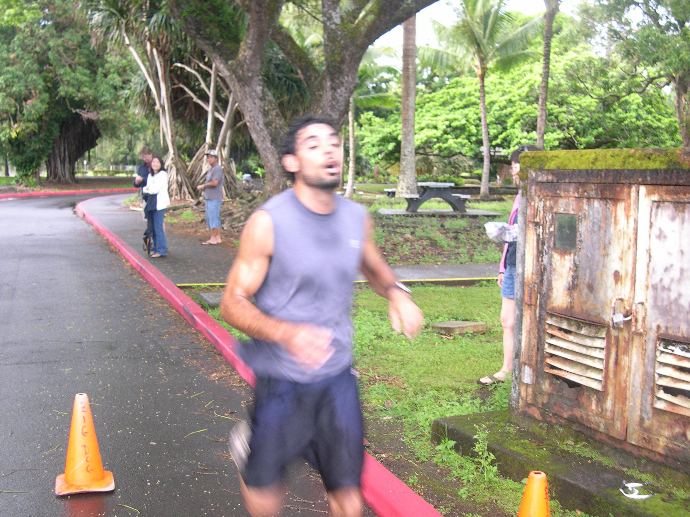 5K Runner-Up Johan Dana cross finish line