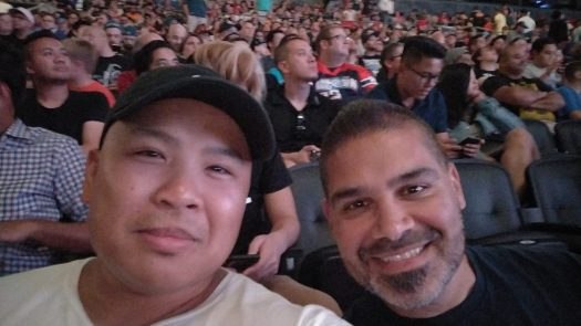 Me and Eddie at SmackDown Live