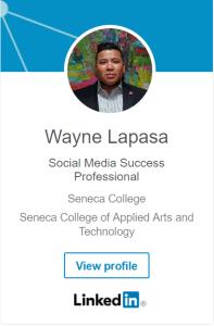 Wayne Lapasa LinkedIn Badge