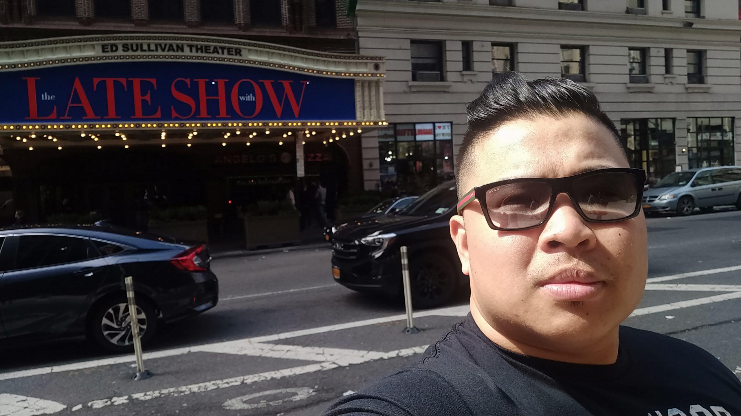 Wayne Lapasa outside the Ed Sullivan Theater