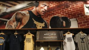 Project Rock large display set up at Under Armour Chicago