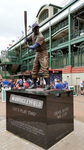 Salute to the great Ernie Banks outside of Wrigley Field.