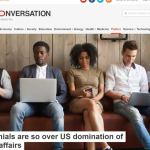 Millennials are so over US domination of world affairs