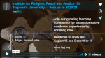 Institute for Religion, Peace and Justice--IRPJ: Update