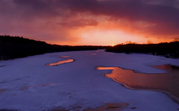 Sunset in Massey