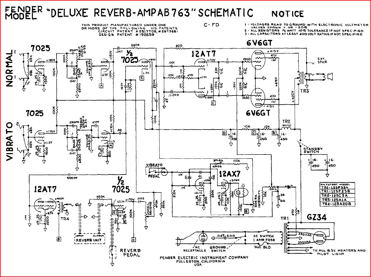 hight resolution of rebuild discussions rebuilding a fender deluxe reverb tube amplifier rh waynereno com fender hot rod deville 410 schematic fender hot rod deville 410