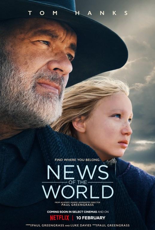 湯姆漢克斯電影《讀報人》將於2月10日於NETFLIX上架