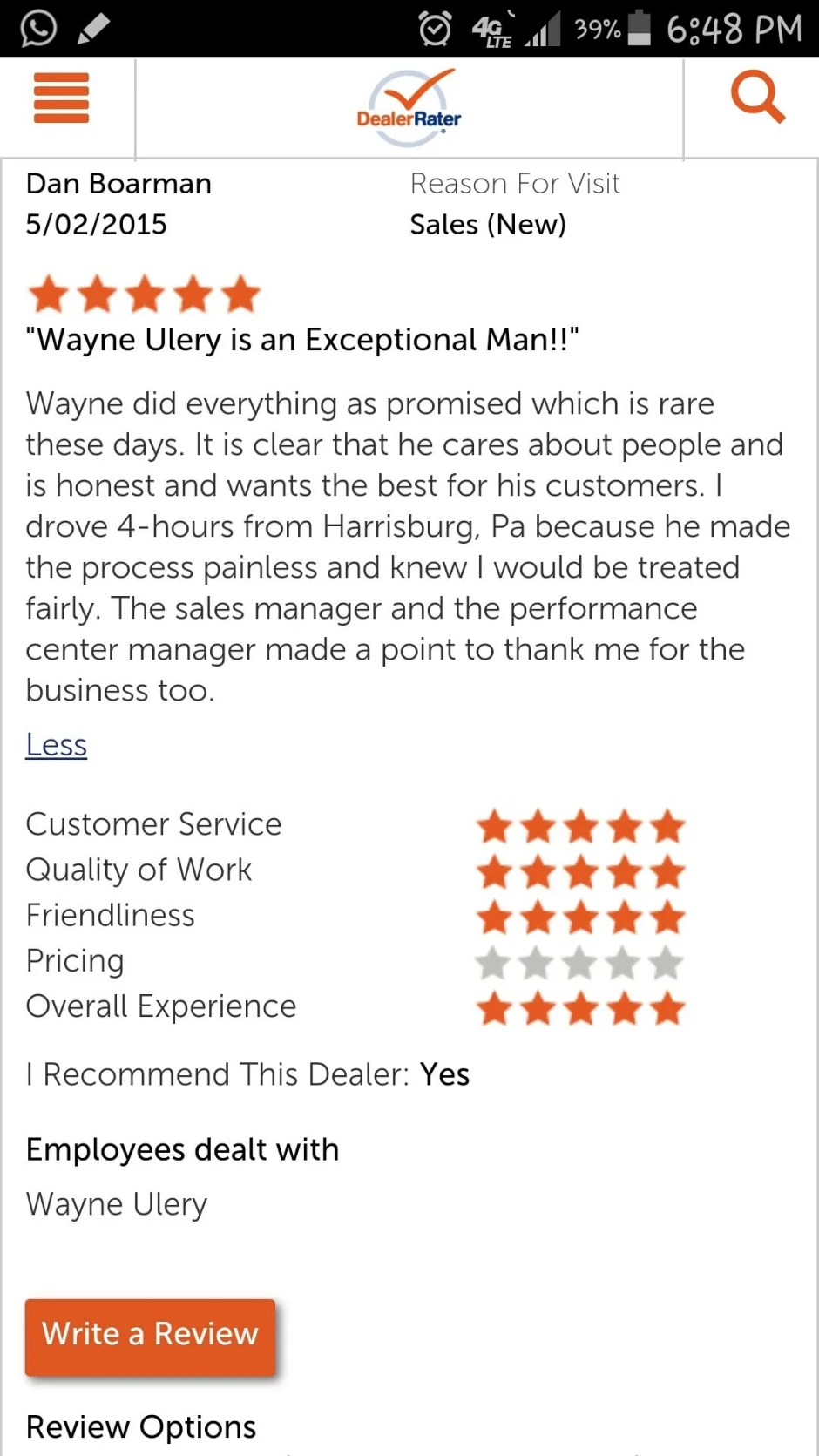 Wayne Review
