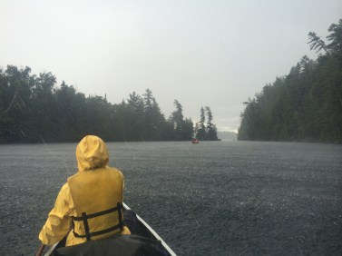 Rain, just outside Keewaydin Temagami campgrounds