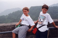 Ben and Chuck along the wall