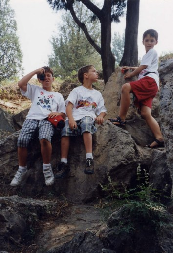 Rock climbing at Summer Palace