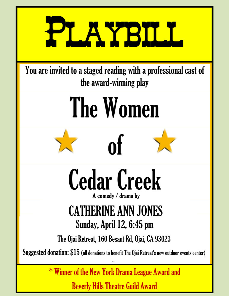 The Women of Cedar Creek flyer