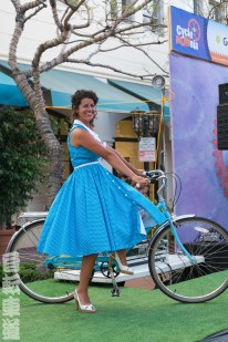 CycleMAYnia 2014. Lots of ladies and their bikes.