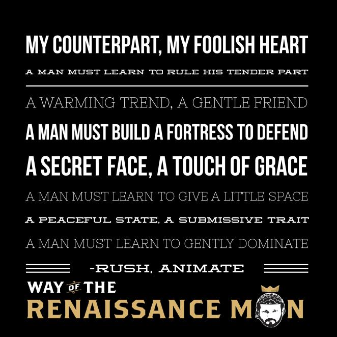 renaissance man wisdom from rush animate lyrics