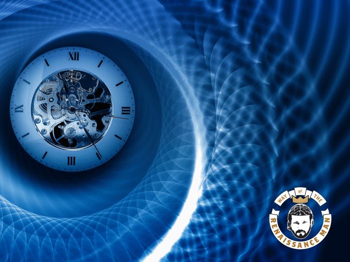 Spirals within spirals with a clock embedded starring way of the renaissance man jim woods