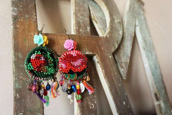 Wayome Upcycling boucles d'oreille lettres