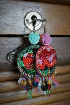 Wayome upcycling boucles d'oreilles casier