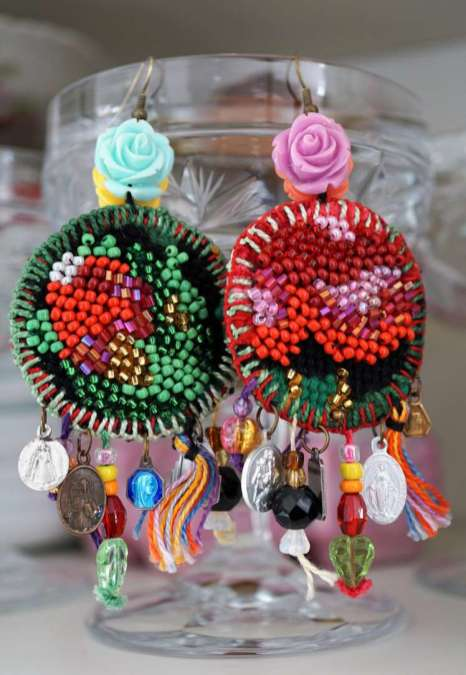 Wayome upcycling boucles d'oreilles verre