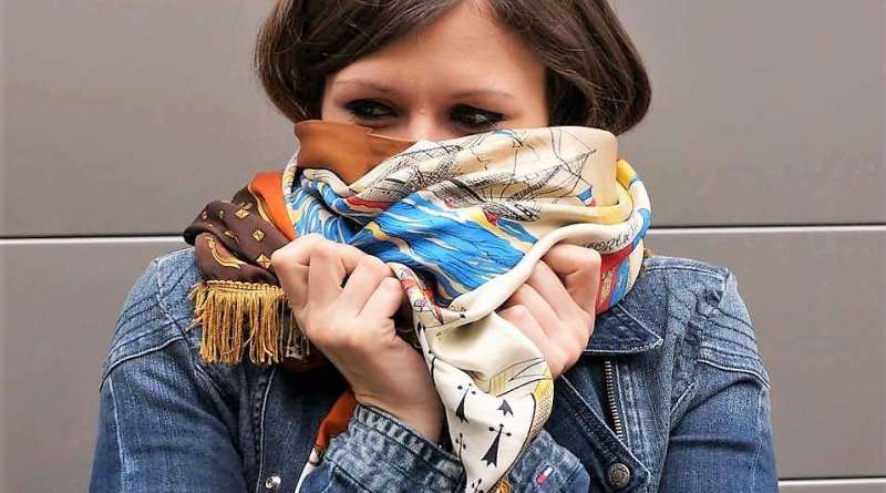 Wayome Upcycling Foulard en soie vintage 1