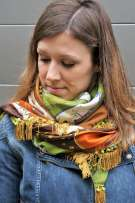 Wayome Upcycling Foulard en soie vintage 4