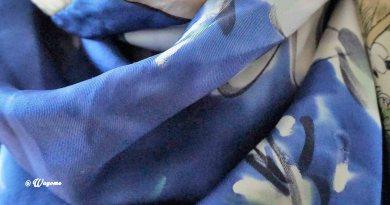 Wayome Upcycling soie vintage bleu W