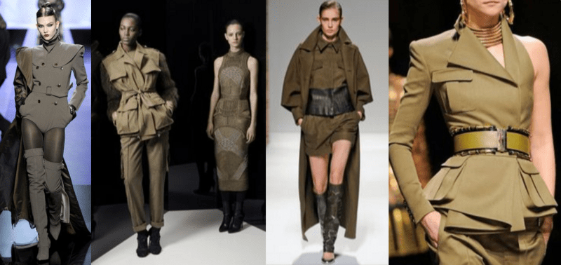 haute couture look militaire