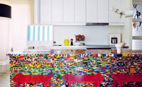 Wayome Upcycling Table en Lego ilot cuisine lego