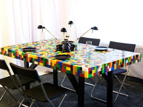 Wayome Upcycling Table en Lego table à manger lego