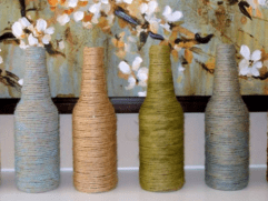 Wayome Upcycling bouteilles avec ficelle