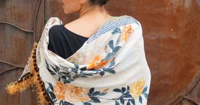 Wayome Upcycling foulard paille soleil dos image une