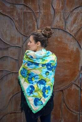 Wayome Upcycling foulard vert d'eau dos