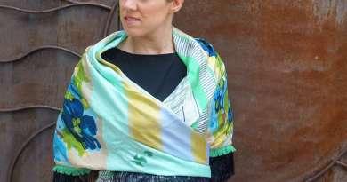 Wayome Upcycling foulard vert d'eau image une