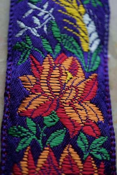 Wayome Upcycling rubans en soie fleurs orange