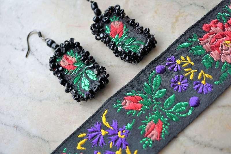upcycler des rubans BO bouquet violet