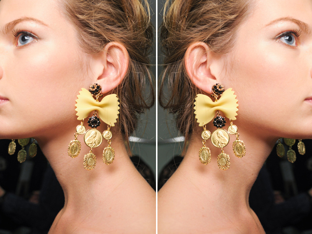 upcycling de qualité D&G earring