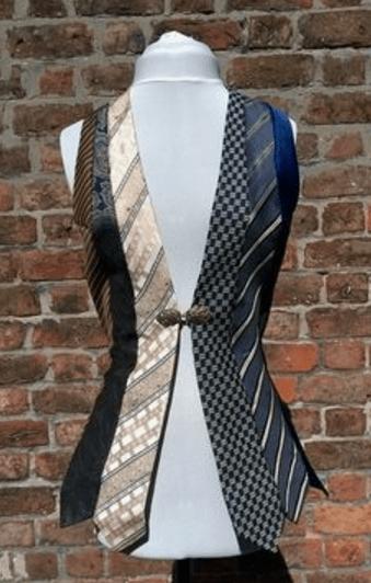 inspiration upcycling cravates veste