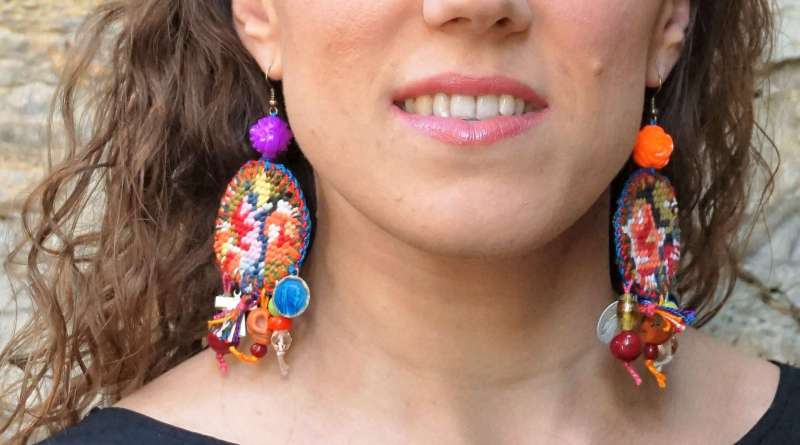 Wayome Upcycling nouvelle creation boucles doreilles image une