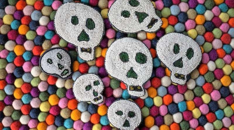 Wayome Upcycling des têtes de mort très halloween image une