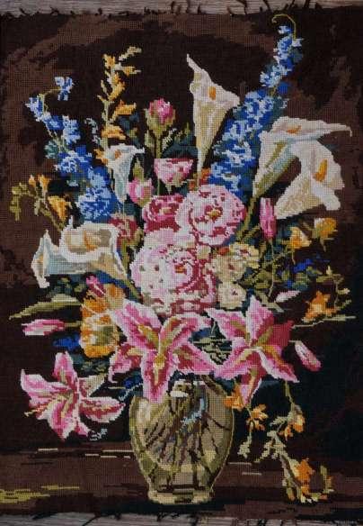 Wayome Upcycling petit florilège de canevas bouquet fleurs
